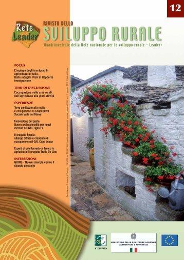 Rivista dello Sviluppo Rurale n. 12/2007 - Inea