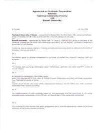 Agreement on Academic Cooperation between Technical University ...