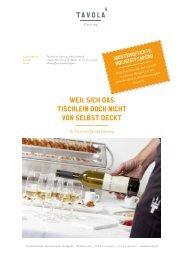 Musterofferte Hochzeit - Tavola Catering