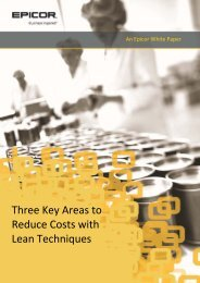 Three Key Areas to Reduce Costs with Lean Techniques