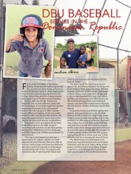 DBU Baseball Serves in Dominican Republic - Dallas Baptist ...