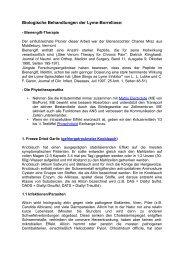 Biologische Behandlungen der Lyme-Borreliose pdf - BioPure