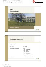 Baar Schule Inwil - Energie Zentralschweiz