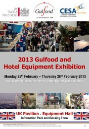 2013 Gulfood and Hotel Equipment Exhibition - CESA