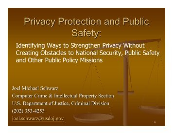 Privacy Protection and Public Safety: Identifying Ways to