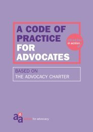 A CODE OF PRACTICE FOR ADVOCATES - Support