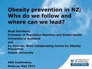Obesity prevention in NZ - Agencies for Nutrition Action
