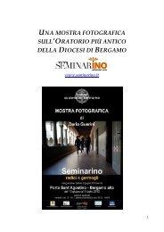 mostra fotografica seminarino - L'Eco di Bergamo