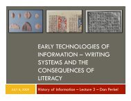 early technologies of information – writing systems - Courses