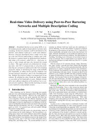 Real-time Video Delivery using Peer-to-Peer Bartering Networks ...