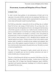 Procurement Delegation of Powers - Tribal Development Department