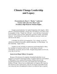 Climate Change Leadership and Legacy