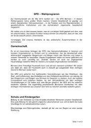 Wahlprogramm der SPD-Börnsen 2013