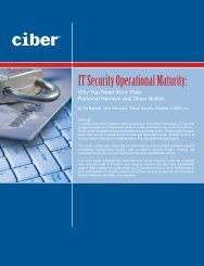 IT Security Operational Maturity: - nascio