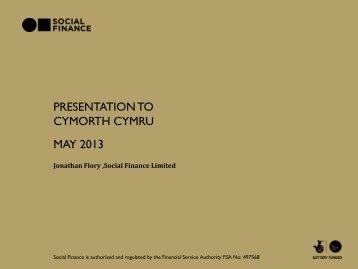 Social Finance - Cymorth Cymru