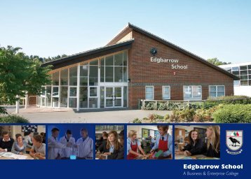Select image to view the Edgbarrow School Prospectus (2013-14)