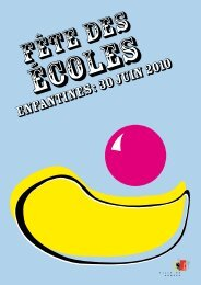 Fête des écoles enfantines 2010 - programme - Ville de Genève