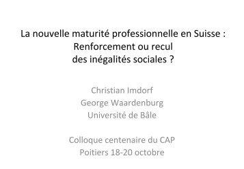 Maturité professionnelle - Université de Poitiers