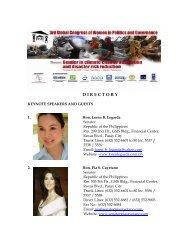 Keynote Speakers and Guests - CAPWIP