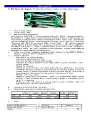 Fabrication d'une cintreuse - croqueuse ... - Tunisie industrie