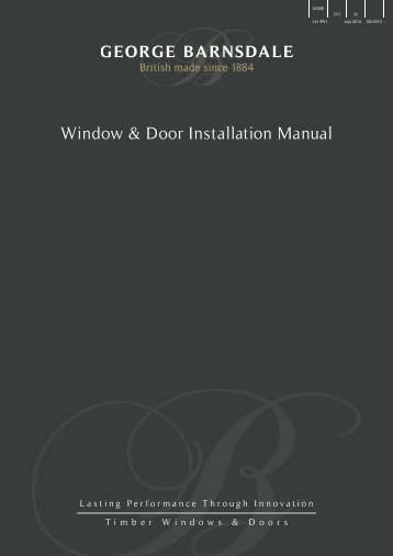 Download Installation Manual - George Barnsdale and Sons