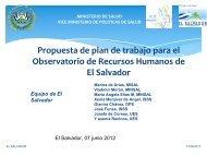 El Salvador - Observatorio de Recursos Humanos en Salud