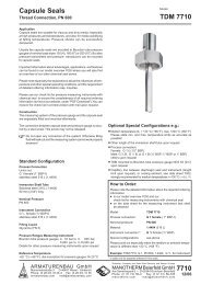 Data sheet 7710 - Pressure gauges and thermometers