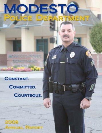 Modesto Police Department - Annual Report 2008 - City of Modesto