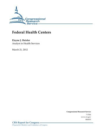 Federal Health Centers - Federation of American Scientists