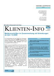 Klienten - Info August 2008 - Moore Stephens City Treuhand