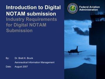 Digital NOTAM - NFDC - FAA