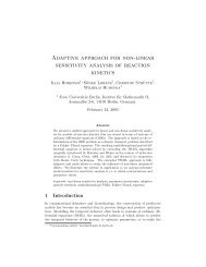 Adaptive approach for non-linear sensitivity ... - Hamilton Institute