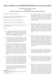 COUNCIL REGULATION (EC) No 670/2003 of 8 April ... - EUR-Lex