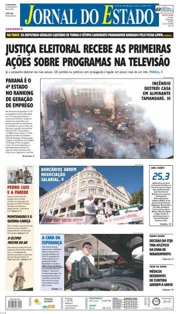 justiça eleitoral recebe as primeiras ações sobre ... - Bem Paraná