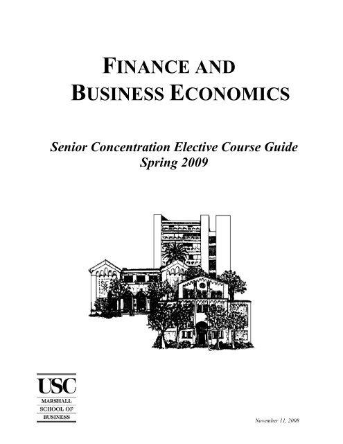 finance and business economics - USC Marshall - University
