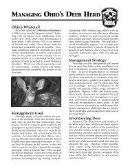Managing Ohio's Deer Herd - Ohio Department of Natural Resources