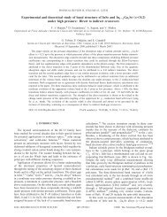 Experimental and theoretical study of band structure of InSe and In 1 ...