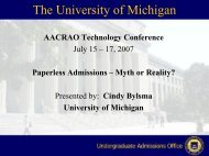 Paperless Admissions: Myth or Reality? - AACRAO