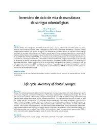 Inventário de ciclo de vida da manufatura de seringas odontológicas