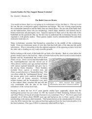 Do They Support Human Evolution - Noah's Ark & Early Man Seminars