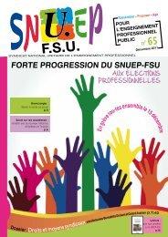 POUR L'ENSEIGNEMENT PROFESSIONNEL PUBLIC n° 65 - snuep