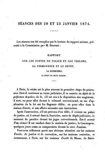 séances des 20 et 23 janvier 1874. séances des 20 et 23 janvier 1874.