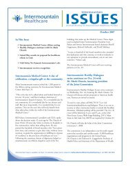 eMail Blast for print october:Issues - Intermountain.net