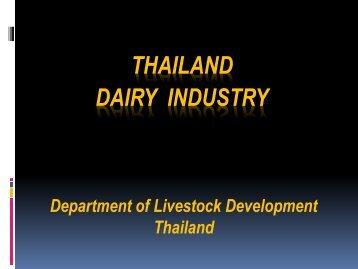 THAILAND DAIRY INDUSTRY