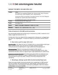 Referat - Det odontologiske fakultet