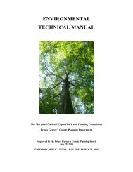 environmental technical manual - Prince George's County Planning ...