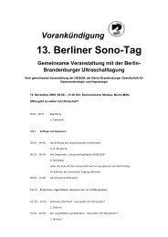 13. Berliner Sono-Tag - Ultraschalltagung-bb.de