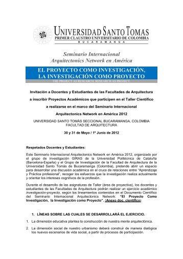 Seminario Internacional Arquitectonics Network en América EL ...