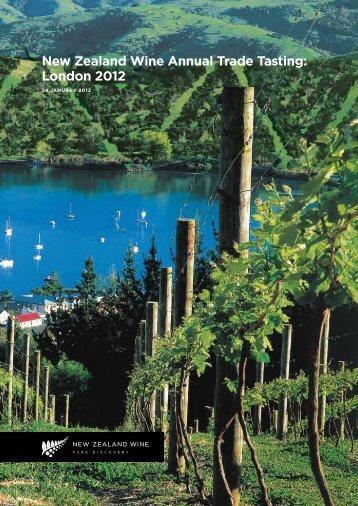 New Zealand Wine Annual Trade Tasting: London 2012