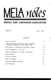 View or Download MELA Notes 27 - Middle East Librarians ...